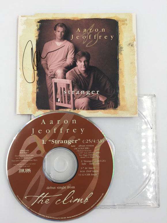 9311 - C - CD - Aaron & Jeoffrey - Strange - Promotional Copy - Autographed Cover