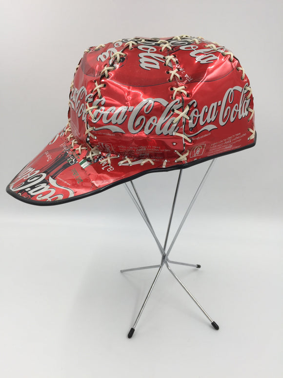 9375 - C - Coca Cola Metal Pop Can Hat - Very Rare - Adjustable Fit