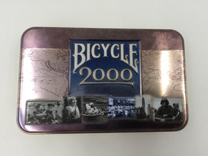 9377 - SP - Bicycle 2000 Millennium Tin With 2-Poker Decks of Cards - Both Decks Complete & One Still in Plastic