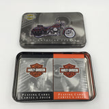 "9378 - SP - Harley-Davison ""An American Legend""  Tin - 1999 - With 2-Poker Decks of Cards - Both Decks Complete -"