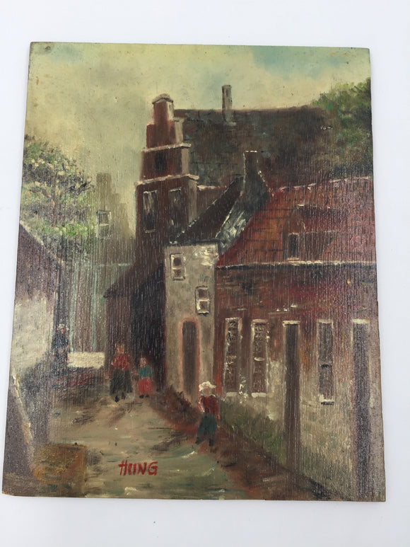 9386 - A - Oil Painting - Small Painting - Signed