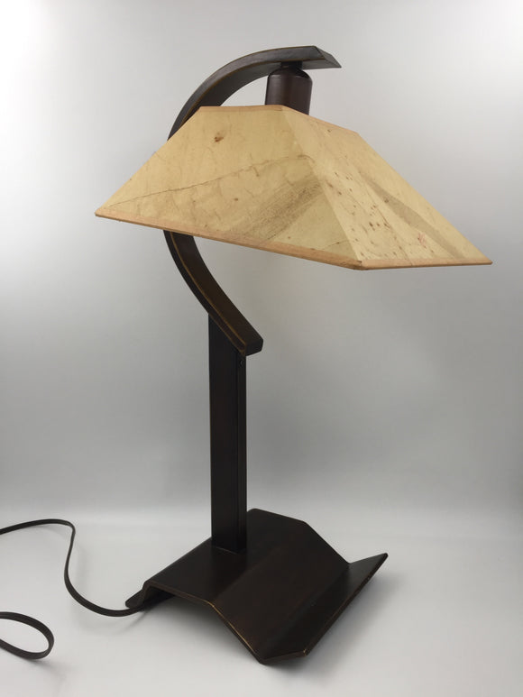 9409 - H - Dual Brightness Table Lamp with Shade - Unique Designed Lamp - Bronze Base