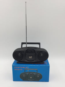 9423 - E - DS Max Portable Radio with Carrying Handle - Telescopic Antenna - Dual Speakers - AM/FM Tuner