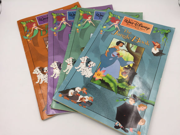 9434 - H - Set of 4 Walt Disney Treasure Chest Story Books - Great for the Little Ones