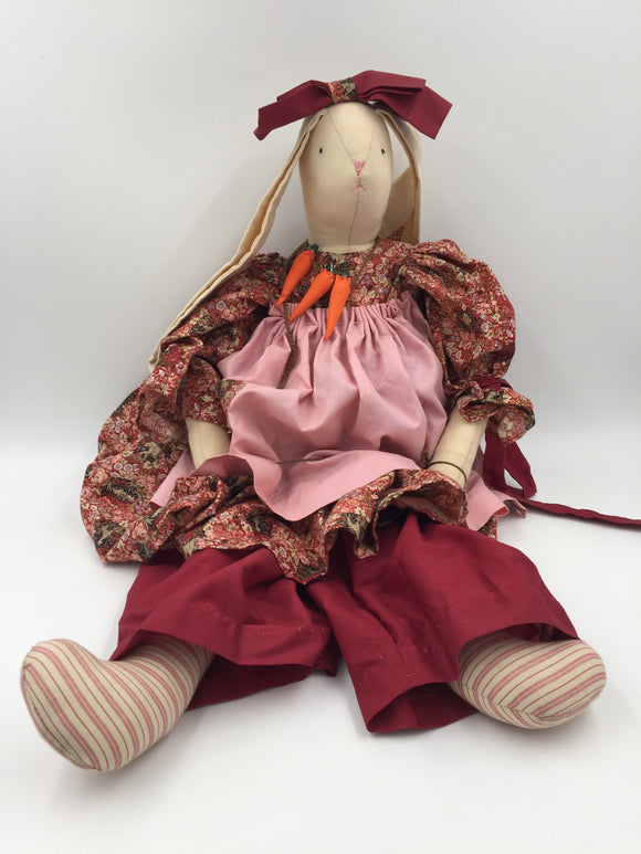 9443 - T - Emma Rabbit Cloth Doll - Full Outfit - Large Floppy Ears