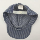 9454 - AP - Blue & White Striped Cap - Oriental Trading Company - 100% Cotton