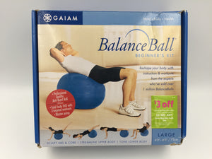 9487 - SP - Gaiam Balance Ball Kit - Includes Large Balance Ball - DVD - Blaster Pump