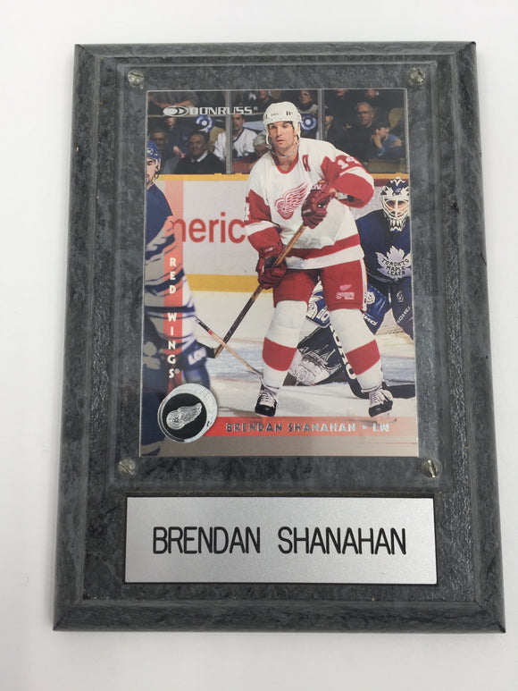9488 - SP - Brendan Shanahan - Donruss Plaque - Mounted on Decorative Base - Name Plate - Hockey Card under Clear Beveled Plate