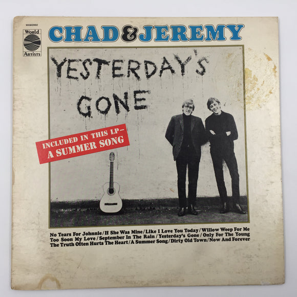 9548 - C - Record Album - Chad & Jeremy - Yesterday's Gone - World Artists WAM 2002