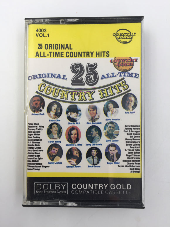 9598 - C - Cassette Tape - 25 Original All-time Country Hits - Various Artists - Everest Record Corp -