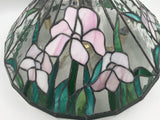 9670 - H - Leaded Glass Chandelier - Intricate Flower Design Cut Glass - 5 Light