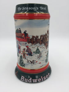 9680 - C - Beer Stein - 1991 Budweiser Collector's Series - World Famous Clydesdales by Artist Susan Sampson