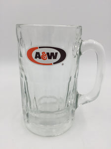 9686 - C - A & W Root Beer Float Glass Mug - Vintage 1970's - Heavy Glass