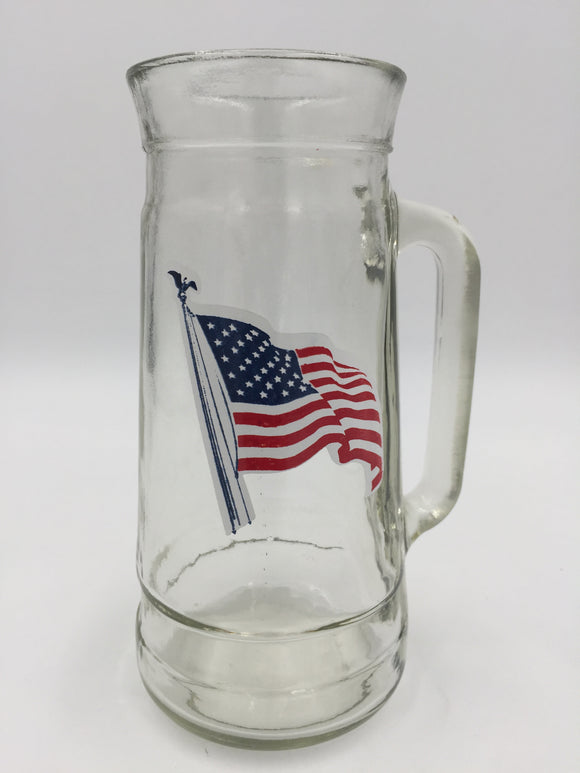 9689 - C - Glass Mug - American Flag - Uniquely Designed Mug