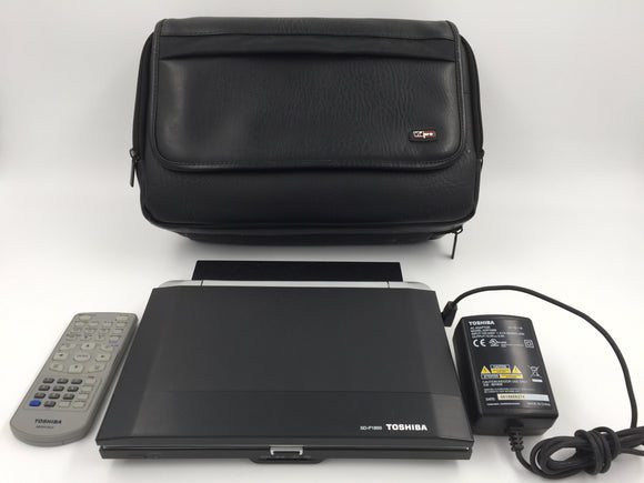 9762 - Portable DVD Player - Toshiba - SD-P1850 - Has Power Cord, Charger, Remote and Multi-Compartment Leather Case