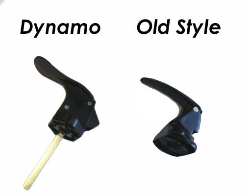 Dynamo Inner Storm Door Handle (Black) & Custom Made Metal Shaft