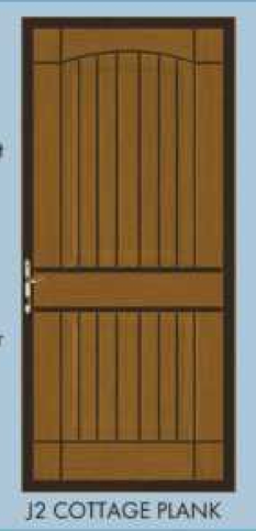 229B - Cottage Plank Security Door - 30