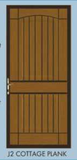 "253 - Cottage Plank Security Door - 30"" x 79""  RH - ""In-Store PICK-UP Only"""