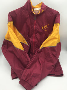 9304 - AP - Track Suit - Burgundy/Gold - Size Small - Swift Track Club