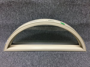 "197 - W - Arch Window - 29""w x 11""h - Tan In and Out - Low E Argon"