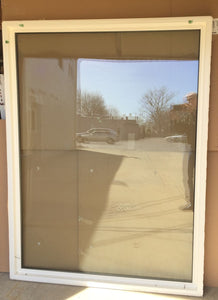 "332 - W - Casement Fixed - 45 1/2""w x 76""h - Tan Out and White In - Solar Clean Glass - Tempered Glass"