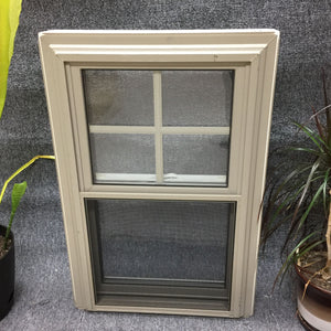 "72 - W - Double-Hung - 20""w x 30""h - Sandstone Out and White In - Low E argon"