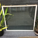 "#290 - W - Sash - 37""w x 32 1/2""h - White Out and Oak - Low E Argon"