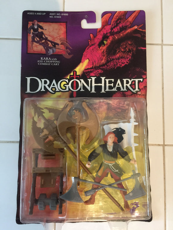 8224 - C - Dragon Heart - Kara Action Figurine w/Axe Chopping Combat Cart  - New in Display Box