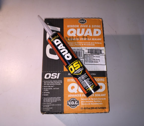 2S01 - SU - Brown (224) OSI Quad Caulk - Individual Tubes.