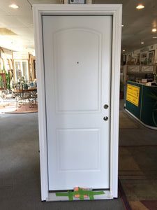 "229A - D - Therma-Tru Smooth Star Fiberglass Entry Door - 30""w x 79""h - White - LHIS"
