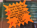 "401A - Double Storm Door - 64""w x 80h""- Terratone Color - ""In-Store PICK-UP Only"""