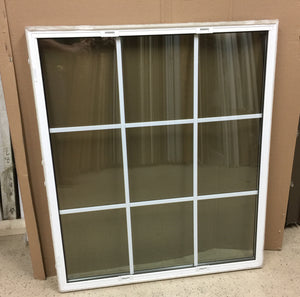 "318A - W - Sash - 42""w x 34 1/4""h - Sandstone Out and White In - Low E Argon"