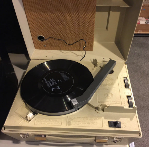8118 - E - Portable Phonograph/Record Player w/Built in Speaker - Designed for Blind Users