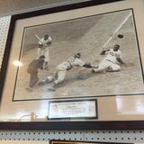 "7965 - A - Photo Print - Jackie Robinson ""Steals Home"" 1952 Framed & Matted"