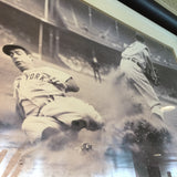 7967 - A - Photo Print - Joe DiMaggio Stealing 3rd Base - Framed & Matted