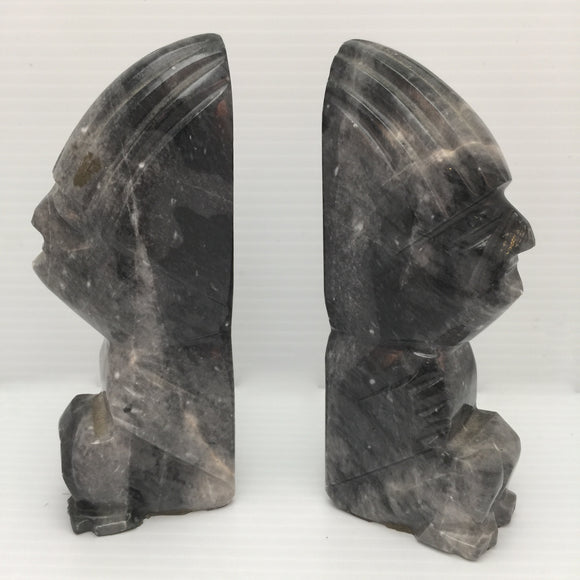 8437 - H - Native American Inspired Marble Book Ends