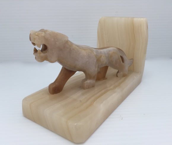 8435 - H - Marble Lion -Marble Base with Marble Lion