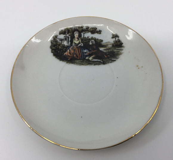 8696 - H - Decorative Plate - Women and Man in Garden