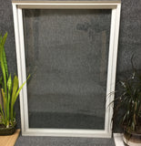 "256 - W - Inside Storm Window - 32 1/4""w x 45 5/8""h - White In and Out - Single Pane"