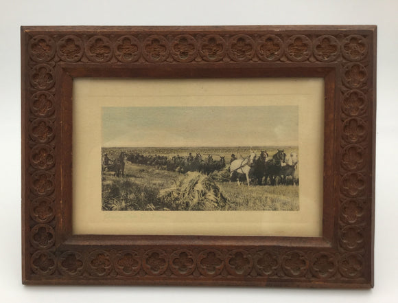 8698 - A - Pierre Casini Hand Carved Frame Vintage Post Card -