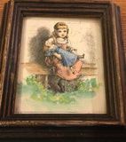 7816 Print - Little Girl Holding Doll