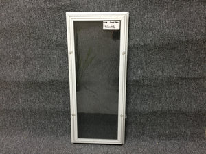 "240 - W - Basement Storm Window - 31 1/2""w  x 14 1/4""h - White - Aluminum"