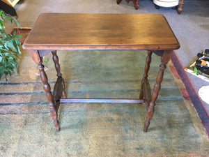 "7932 - H - Antique 24 x 12 x 25 Wooden Accent Table -""In Store Pickup ONLY"""