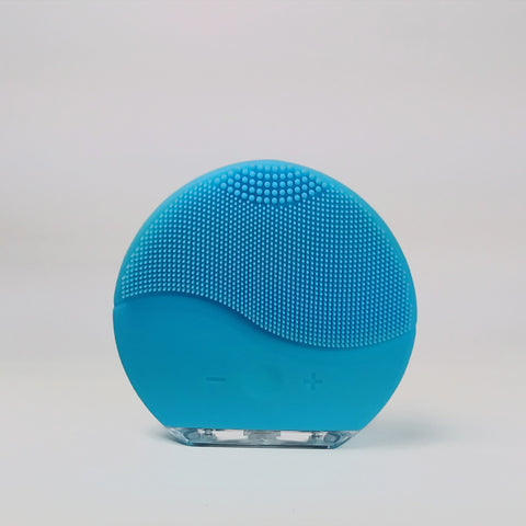 Facial cleansing brush and massage USB - Blue