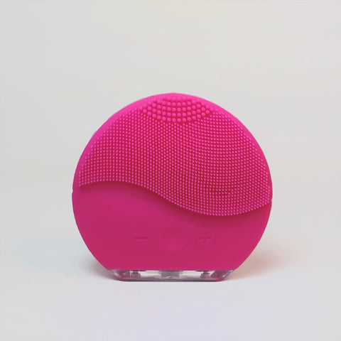 Facial cleansing brush and massage USB - Fuchsia
