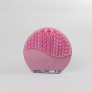 Facial cleansing brush and massage USB - Pink