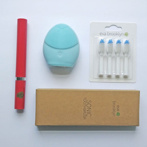 Sonic toothbrush pack red-blue