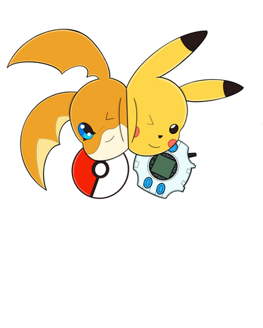 Patomon y Pikachu