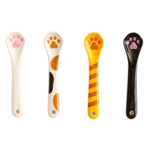 Cat Paw Shaped Ceramic Spoon