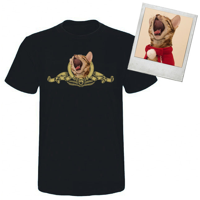 Custom Pet Face Metro Goldwyn Mayer t shirt